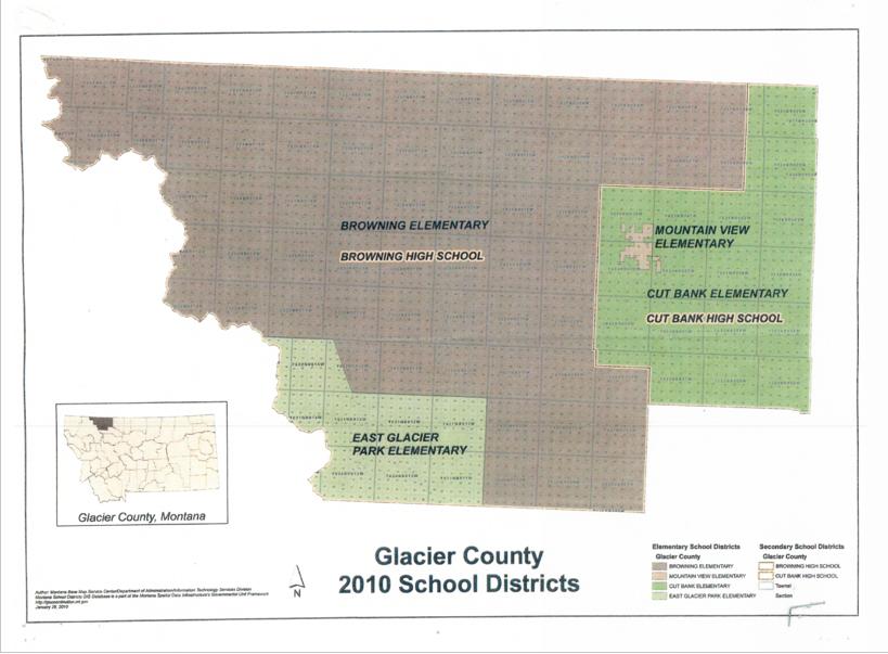 Glacier County Montana School District Information